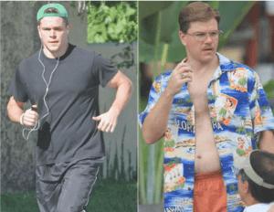 Matt Damon Fat and Skinny