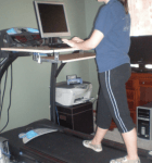 Lose weight using a treadmill workstation desk!