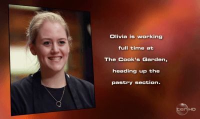 Olivia eliminated masterchef 8 episode 12