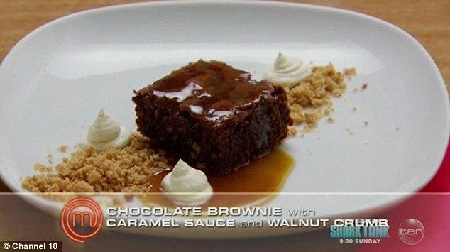 brownie dessert masterchef au